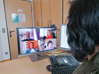 Videokonferenz an der Bergschule: Testläufe waren erfolgreich. (Foto: SMMP)